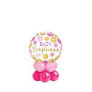 Buon Compleanno Pink & Gold Dots Mini