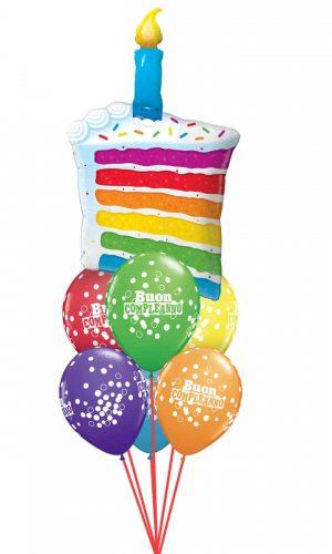034 Rainbow Cake & Candles Luxury