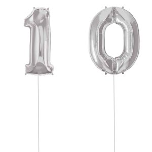 Super Number 10 Helium Silver