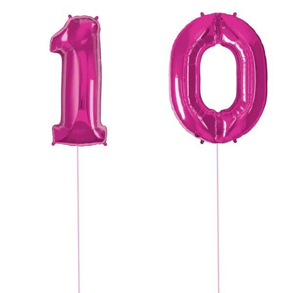 Super Number 10 Helium Rosa