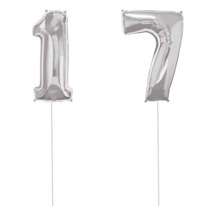 Super Number 17 Helium Silver