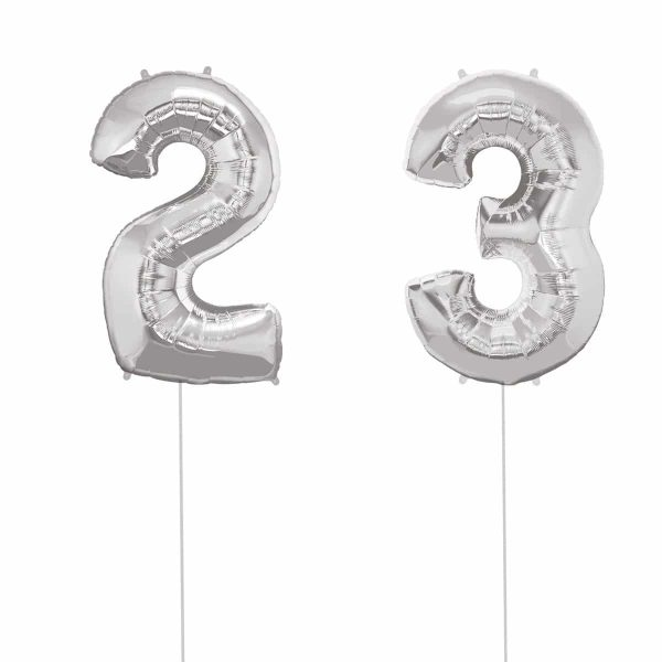 Super Number 23 Helium Silver