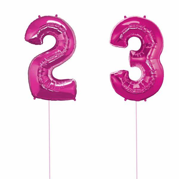 Super Number 23 Helium Rosa
