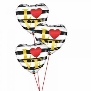 Love Hearts & Stripes Triple
